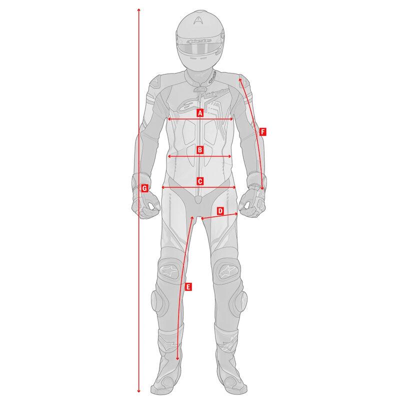 On-road motoros kabát és nadrág mérési segédlet