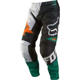 Fox 180 Vandal Gyerek Motocross Nadrág (Green-Orange)