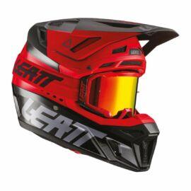 Leatt Moto 8.5 V21.1 Bukósisak Szemüveggel (Piros)