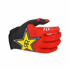 FLY Racing Lite Rockstar Motocross Kesztyű (Piros)