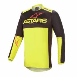 Alpinestars Fluid Tripple Motocross Mez (Fekete-fluo sárga-piros)
