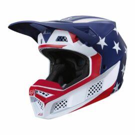 Fox Racing V3 PREY MVRS MIPS Bukósisak (White-red-blue)