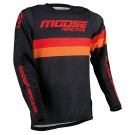 Moose Racing Sahara Motocross Mez (fekete-piros)