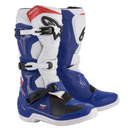 Alpinestars Tech 3 MX Csizma (Fehér-kék-piros)