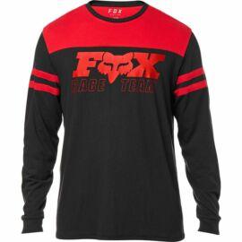 Fox  Race Team Hosszú Ujjú Póló (fekete)