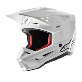 Alpinestars S-M5 Solid MX Bukósisak (Fehér)