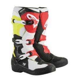 Alpinestars Tech 3 Motocross Csizma(fekete-fehér-sárga fluo)