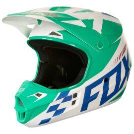 Fox V1 Sayak Motocross Bukósisak (Green)
