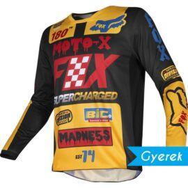 Fox 180 Czar Gyerek Motocross Mez (Sárga)