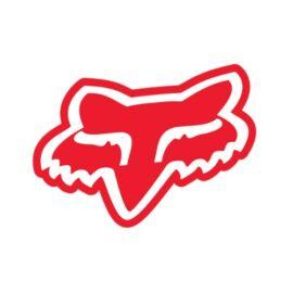 Fox Head Piros Matrica (18 cm)