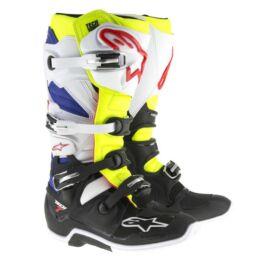 Alpinestars Tech 7 Motocross Csizma (fehér-fluo sárga-kék)