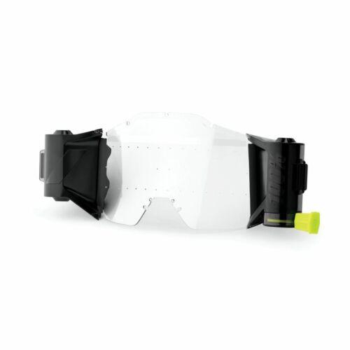 A GYEREK FMF PowerBomb szemüvegeihez elérhető teljes roll-off rendszer is, amely széles (45mm) és tiszta látómezőt kínál még a legmostohább körülmények között is. A rendszer öntisztító tartályt és páramentes polikarbonát lencsét, 2 tekercs roll-off filmet