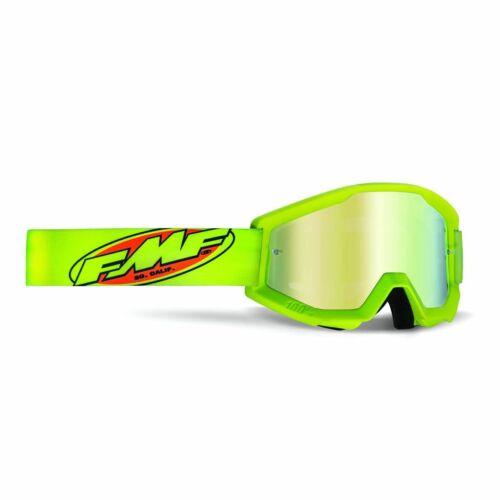 FMF PowerCore Core Gyerek MX Szemüveg (Fluo sárga-Arany tükrös)