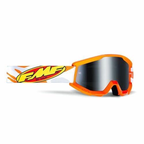 FMF PowerCore Assault MX Szemüveg (Narancs-Ezüst tükrös)