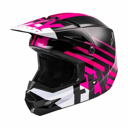 FLY Kinetic Thrive Ece MX Bukósisak (pink-fekete-fehér)