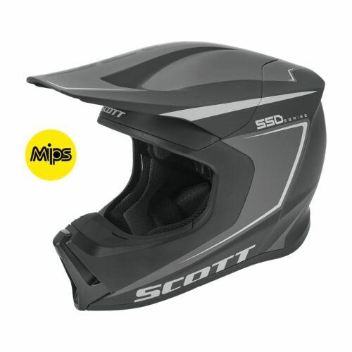 Scott 550 Carry ECE MIPS MX Bukósisak (Fekete-Szürke)