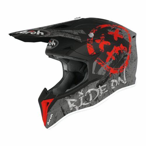 Airoh MX Wraap Smile Motocross Bukósisak (Piros matt)