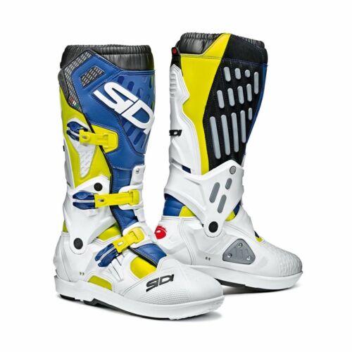 SIDI Atojo SRS Motocross Csizma (Sárga fluo-fehér-kék)
