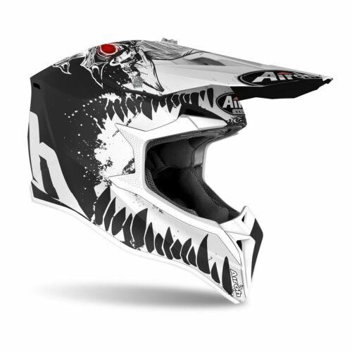 Airoh MX Wraap Beast Motocross Bukósisak (Matt fekete-fehér)
