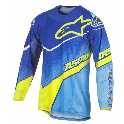 Alpinestars Techstar Venom Cross Mez (Kék-cyan-fluo sárga)