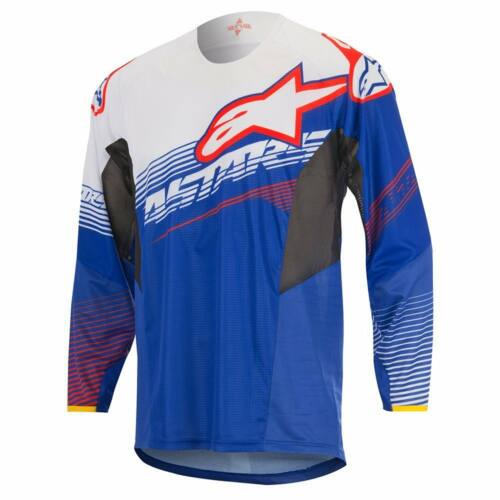 Alpinestars Techstar Factory Motocross Mez (Kék-fehér)