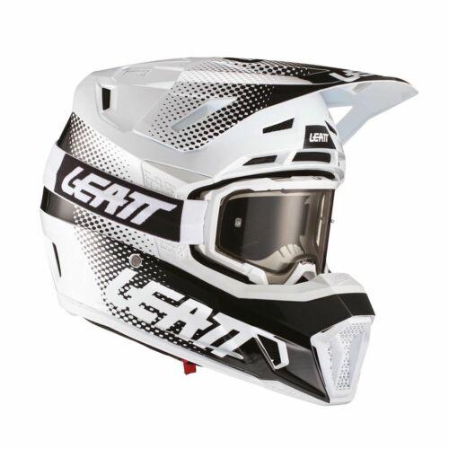 Leatt Moto 7.5 V21.1 Bukósisak Szemüveggel (Fehér)