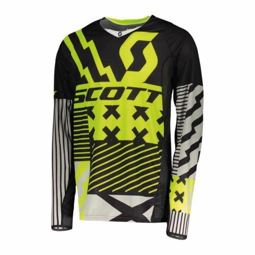 Scott 450 Patchwork  Motocross Mez (fekete-sárga)