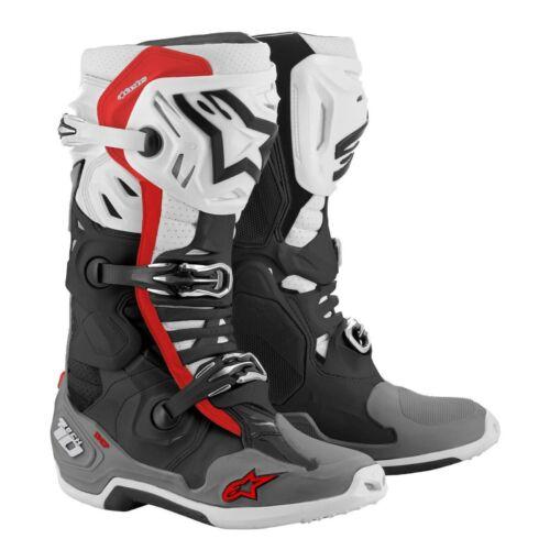 Alpinestars Tech 10 Supervented (fehér-fekete-piros)