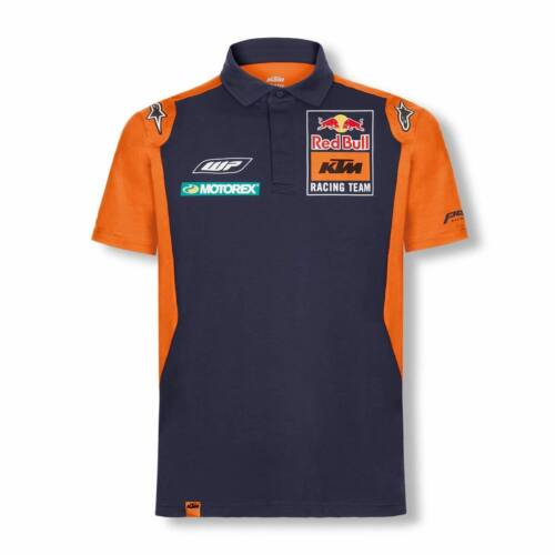 Red Bull KTM Official Teamline Galléros Póló (Navy-Orange)