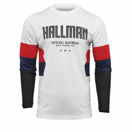 Thor Hallman Differ Motocross Mez (Fehér-Piros-Navy)