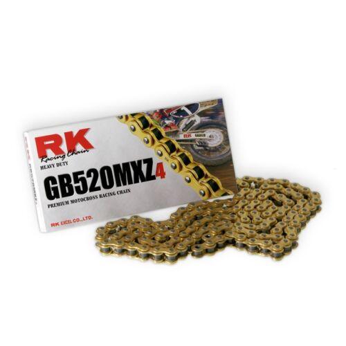 RK 520MXZ Színes Motocross és Enduro Lánc (Arany)