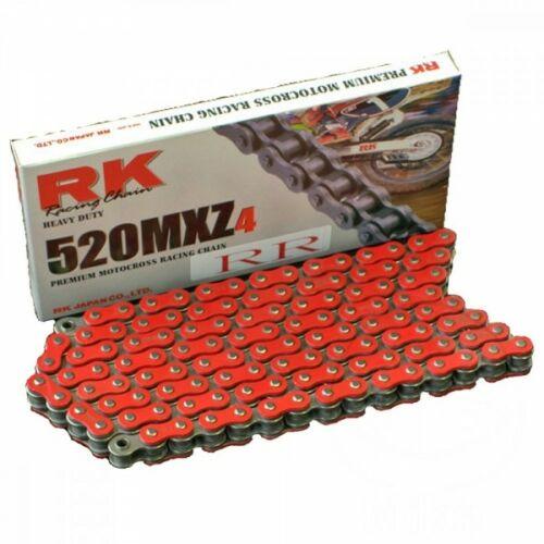 RK 520MXZ Színes Motocross és Enduro Lánc (Piros)