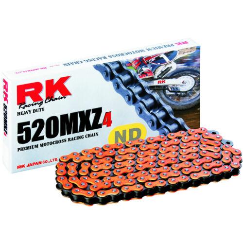 RK 520MXZ Színes Motocross és Enduro Lánc (Narancssárga)