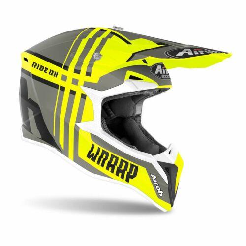 Airoh MX Wraap Broken Bukósisak (Sárga matt)