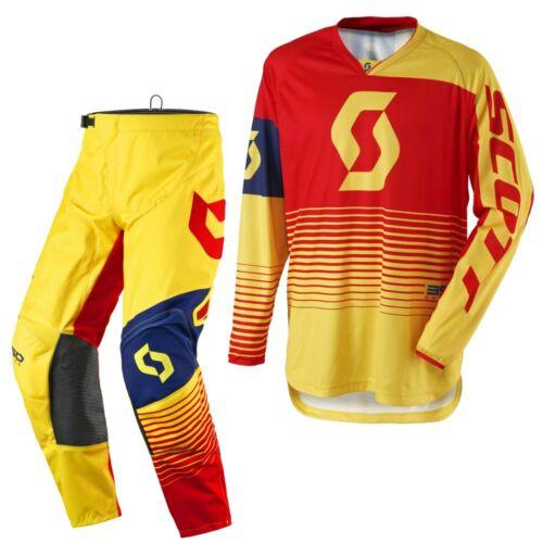 Scott 350 Track Motocross Ruhaszett (Sárga-Piros)