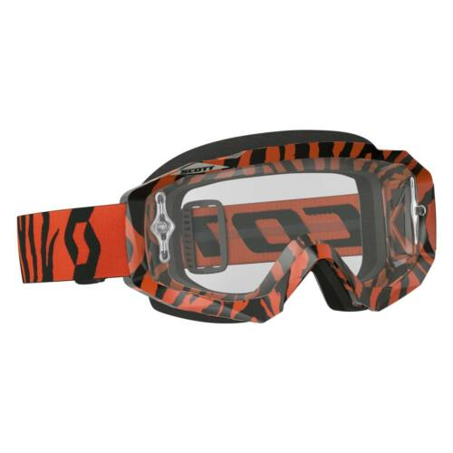 Scott Hustle Orange Fluo Motocross Szemüveg