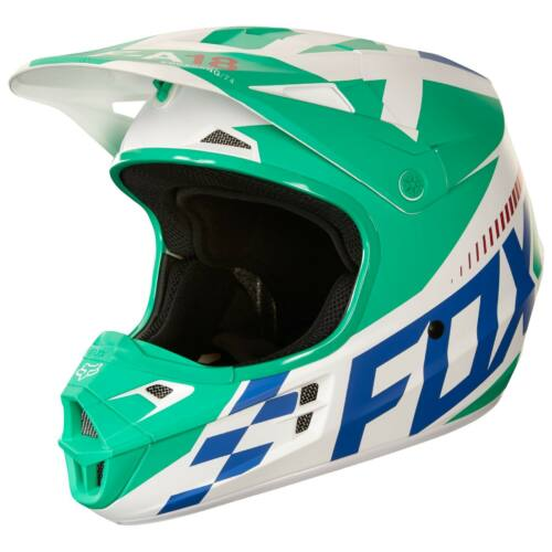 Fox V1 Sayak Motocross Bukósisak (Green)