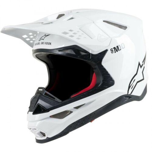 Alpinestars Supertech S-M10 Solid Motocross Bukósisak (Fehér)