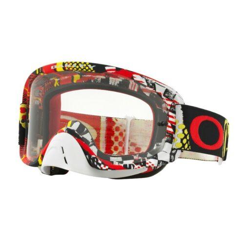 Oakley O2 Mosh Pit Motocross Szemüveg(piros-sárga)