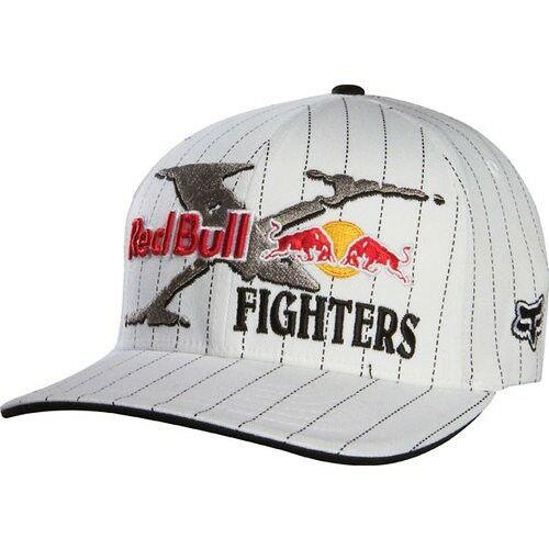 Fox Red Bull X-Fighters Core Flexfit Baseball Sapka (Fehér)