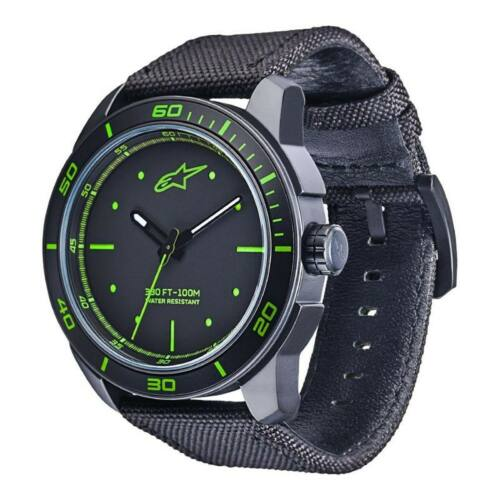 Alpinestars Tech Watch 3H Karóra (Zöld-Fekete, Szövet pánt)
